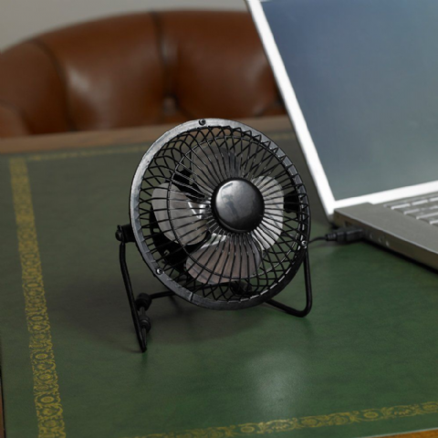 Black Mini USB Desk Fan - Limitless Electrical By Bonnington Plastics